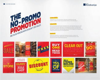Kinokuniya Book Stores: The No-Promo Promotion Design & Branding by J. Walter Thompson Dubai