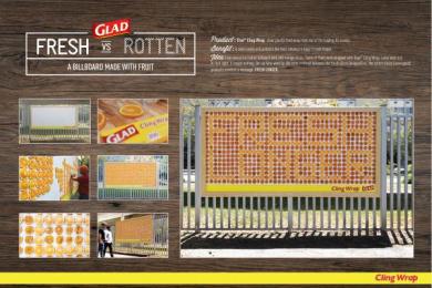 Glad: Fresh vs Rotten Outdoor Advert by Alma Miami