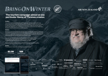 Air New Zealand: Bring On Winter Case study by Host/Havas