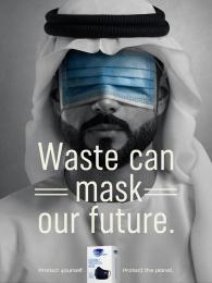 Fine Hygienic: Waste Can Mask Our Future, 3 Print Ad by Horizon FCB Dubai