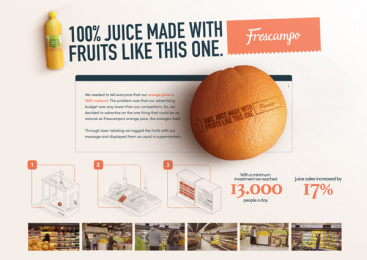 Frescampo: If Oranges Could Talk Print Ad by Sancho BBDO Columbia