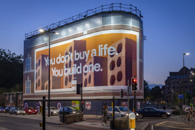 B & Q: Build a Life, 4 Outdoor Advert by Uncommon London, Knucklehead