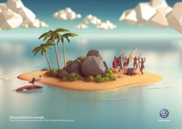 Volkswagen: Island Print Ad by DDB Berlin