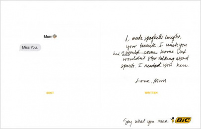 Bic: Say what you mean, 3 Print Ad by Miami Ad School