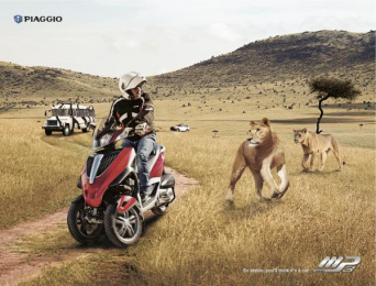 Vespa: Lions Print Ad by Acw Grey Tel-Aviv