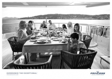 Princess Yachts: Dinners Print Ad by Bsur Amsterdam