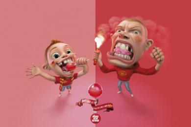 Dos En Uno: Hooligan Print Ad by Prolam Y&R Santiago