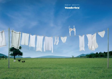 Playtex Bra: CLOTHESLINE Outdoor Advert by Q Werbeagentur