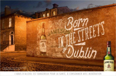 Jameson: Red Wall Outdoor Advert by Being Paris
