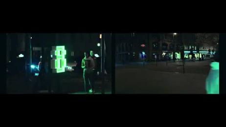 Kraftwerk: SECRET NUMBERS Ambient Advert by Kitchen Leo Burnett Oslo, VELCRUX, WORDUP PROJECTS
