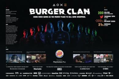 Burger King: Burger Clan [image] 2 Digital Advert by Lola Madrid, Tronco