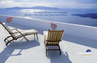 Travel Planet 24: Santorini Print Ad by The Syndicate