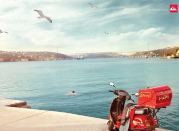 Quiksilver Swimwear: Delivery Print Ad by Brand Experience Designers, Istanbul