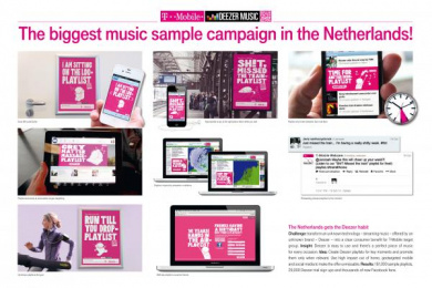 T-Mobile: INTRODUCTION T-MOBILE & DEEZER MUSIC Promo / PR Ad by Etcetera Amsterdam