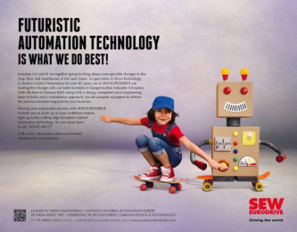 SEW Eurodrive: Futuristic Automation Technology Is What We Do Best Print Ad by Bolditalic Bengaluru