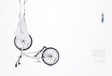 Cif: Bike Print Ad by MullenLowe London