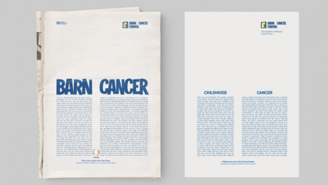 THE SWEDISH CHILDHOOD CANCER FOUNDATION: Childhood And Cancer Don't Belong Together, 3 Print Ad by Garbergs Annonsbyra