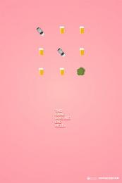 Movicenter: Beer Print Ad by Inbrax Santiago