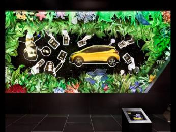 Opel: Opel Paris Motor Show 2016 [image] 6 Ambient Advert by VITAMIN E - Gesellschaft für Kommunikation Hamburg