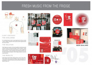 Coca-cola: FRESH MUSIC FROM THE FRIDGE Print Ad by Universal McCann New Zealand