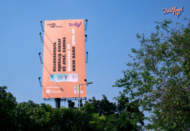 Realfood: Hard-To-Read Billboard Outdoor Advert by LUP, Jakarta