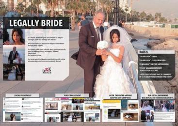 KAFA: Legally Bride Digital Advert by H&C Leo Burnett Beirut