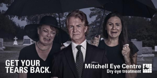 Mitchell Eye Centre: Funeral Outdoor Advert by Wax