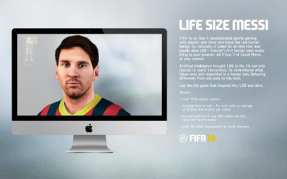 Electronic Arts: LIFE SIZE MESSI Digital Advert by Resn, Wieden + Kennedy Amsterdam