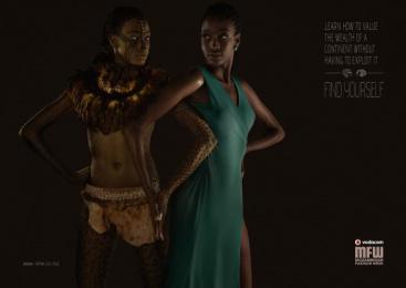 Vodacom Mozambique Fashion Week: Wealth Print Ad by DDB Maputo