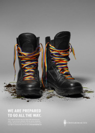 Swedish Armed Forces (SwAF): We Go All the Way Print Ad by Volt
