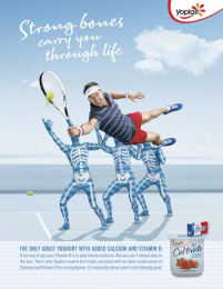 Yoplait Caltivate: Strong Bones Print Ad by BMF Melbourne