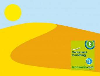 Transavia.com: Go for next to nothing, Desert Print Ad by H.