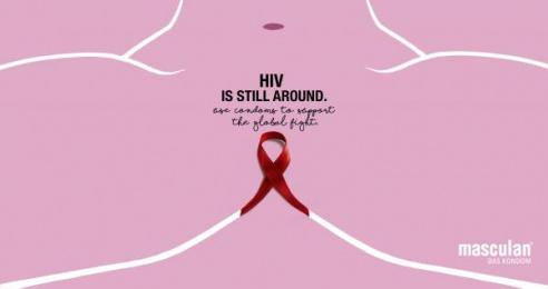 Masculan: HIV, 1 Print Ad by Mayd