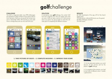 Volkswagen Golf: GOLF CHALLENGE Direct marketing by V Agency Paris