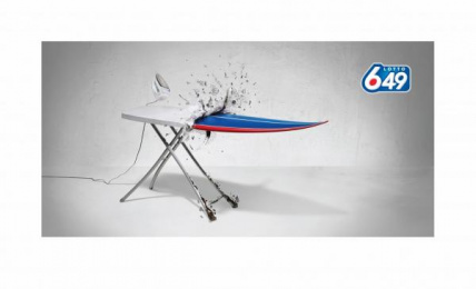 Lotto 649: IRONING BOARD Print Ad by DDB Vancouver