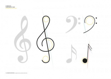 Berliner Philharmonie: A Musical Corporate Font [image] 3 Design & Branding by Atelier Dreibholz Vienna, Scholz & Friends Berlin