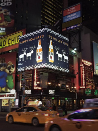 Miller Lite: Miller Lite Ugly Holiday Sweater Ooh, 1 Outdoor Advert by J. Walter Thompson New York, MMT, TBWA\Chiat\Day Los Angeles
