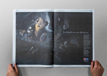 Nz Fire Service: Made From Remains, 1 Print Ad by FCB Auckland