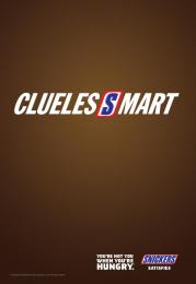 Snickers: CluelesSmart Print Ad by BBDO Toronto