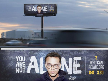 WhoCanRelate.org: Logic Outdoor Advert by Outfront Studios