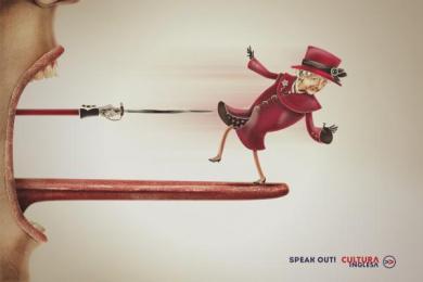 Cultura Inglesa: Rainha Print Ad by Miami Ad School Rio de Janeiro