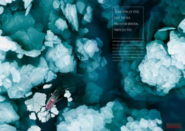 Siliceous Earth: ICEBREAKER Print Ad by Serviceplan Munich
