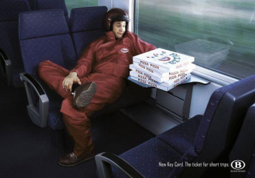 Key Card Tickets: PIZZA Print Ad by Grey Brussels