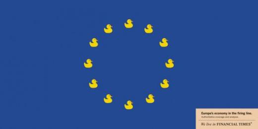 Financial Times: Ducks Print Ad by Tribal London