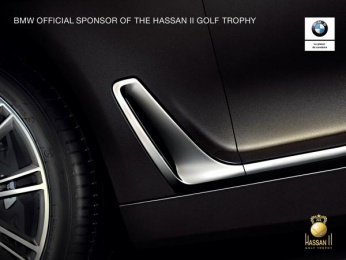 BMW: Hassan II Golf Trophy Print Ad by Klem