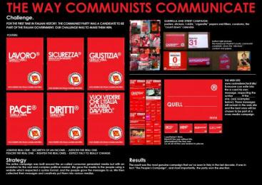 Rifondazione Comunista: ITALIAN ELECTIONS Print Ad by Xister