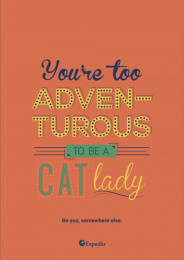 Expedia: Cat lady Print Ad by Miami Ad School
