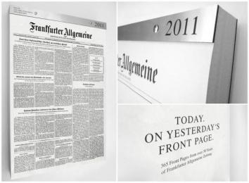 Frankfurter Allgemeine Zeitung Radio Station: The First Page Calendar Design & Branding by Scholz & Friends Berlin