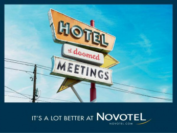 Novotel: Hotel of doomed meetings Print Ad by TBWA Paris