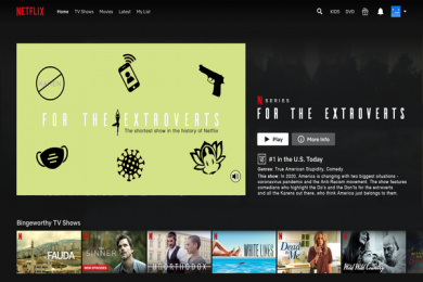 Netflix: For the Extroverts: Shortest show in the history of Netflix, 8 Digital Advert by Side Project, USA